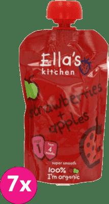 ELLA'S Kitchen Puree owocowe BIO truskawka i jabłko