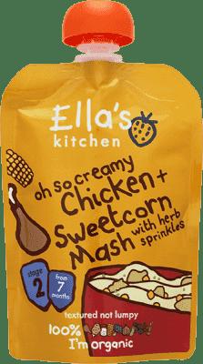 ELLA´S Kitchen Kuře se sladkou kukuřičnou kaší 130g