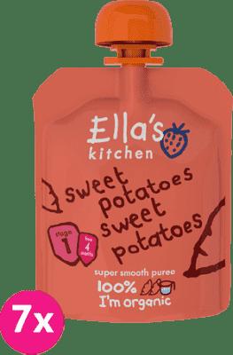 7x ELLA'S Kitchen, Zeleninové pyré - 100% sladké brambory 70g