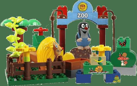 EPLINE Krtek sada studio (48 kostek + 1 figurka krtek + 1 figurka zoo)