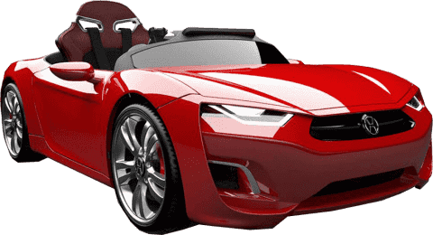 EPLINE Elektrické Auto Henes Broon F830, červené