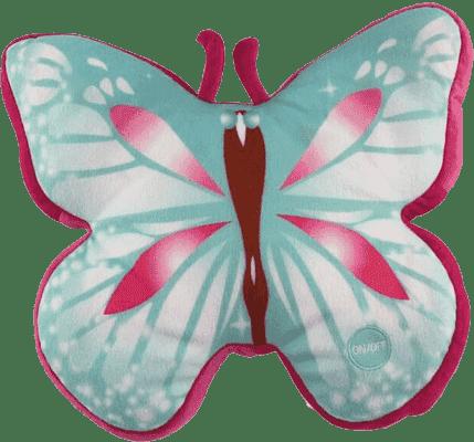 EPLINE Svítící polštář motýl, modro-červený