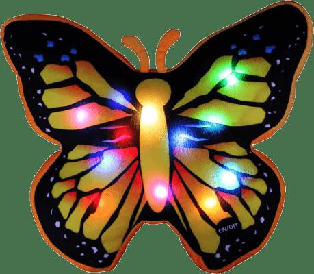 EPLINE Svietiaci vankúš motýľ, čierno-žltý