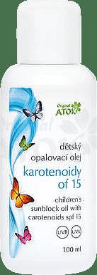 ATOK Original Olejek do opalania dla dzieci z karotenoidami Filtr 15 100 ml