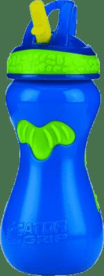 NUBY Športová netečúci fľaša so slamkou Flip-it ™ 450ml, modrá
