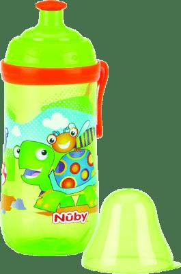 NUBY Športová fľaša Pop-Up 360ml, 18m +, zelená