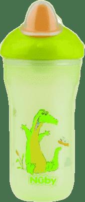 NUBY Termoizolačné kelímok 270ml No-Spill ™, 6m +, zelená