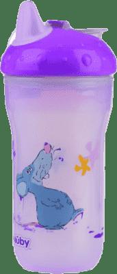 NUBY Termoizolační kelímek 270ml No-Spill™, 6m+, fialová