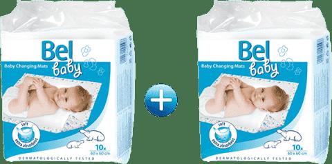 BEL BABY podložky na prebaľovanie dojčiat, 60cm x 60cm 2x (10ks)