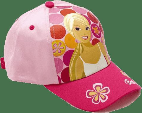 BARBIE Letnia czapka z daszkiem, różówa w kropki (Premium klub)