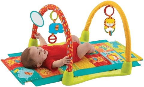 BRIGHTSTARTS Deka na hranie 3-in-1 Jungle Fun Tunnel, 0m + (Premium klub)