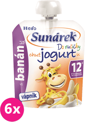 6x SUNÁREK Do ručičky s banánmi a jogurtom (80 g)