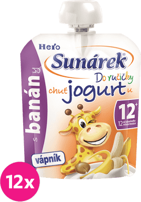 12x SUNÁREK Do ručičky s banánmi a jogurtom (80 g)