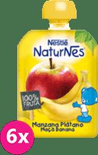 6x NESTLÉ Naturnes Banán, Jablko (90 g) – ovocná kapsička