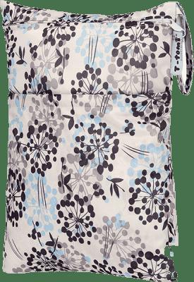 T-TOMI Nepromokavý pytlík, šedé kytky