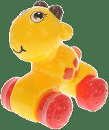 MIKRO TRADING Zvieratko stlač a štartuj – žlté