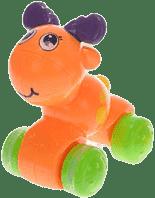 MIKRO TRADING Zwierzątko naciśnij i jedź – pomarańczowe