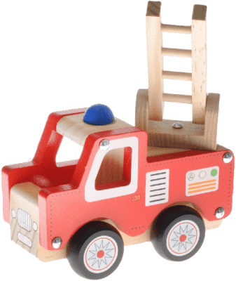 2-PLAY Auto drewniane – wóz strażacki