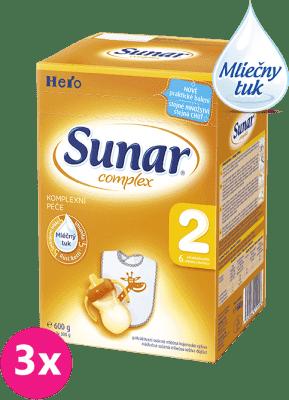 3x SUNAR Complex 2 (600g) - dojčenské mlieko