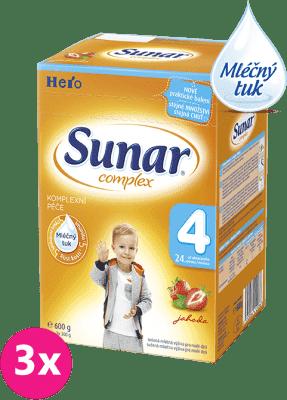 3x SUNAR Complex 4 JAHODA (600g) – kojenecké mléko