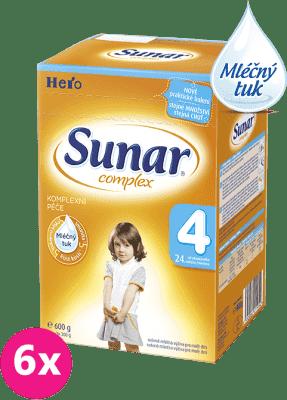 6x SUNAR Complex 4 (600g) – kojenecké mléko