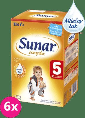 6x SUNAR Complex 5 (600 g) - dojčenské mlieko