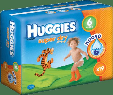 HUGGIES® Super Dry 6 (EXTRALARGE), 19ks - jednorázové pleny