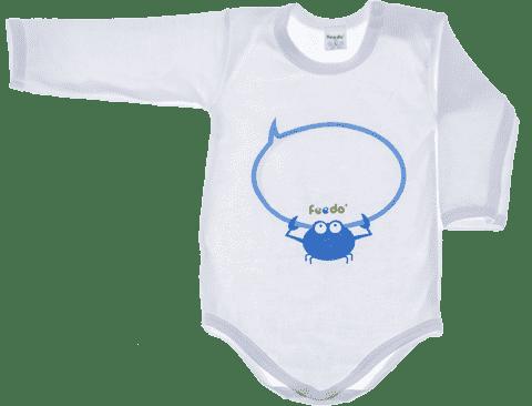 FEEDO dětské body KRAB kluk (modrá), vel. 62  (Feedo klub)