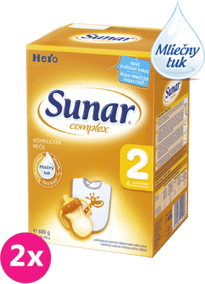 2x SUNAR Complex 2 (600g) - dojčenské mlieko