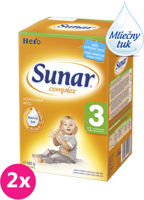 2x SUNAR Complex 3 (600g) - dojčenské mlieko