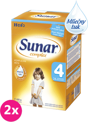 2x SUNAR Complex 4 (600g) - dojčenské mlieko