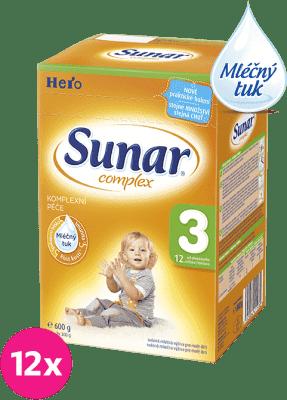 12x SUNAR Complex 3 (600g) – kojenecké mléko