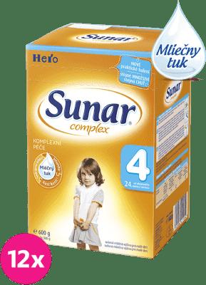 12x SUNAR Complex 4 (600g) - dojčenské mlieko