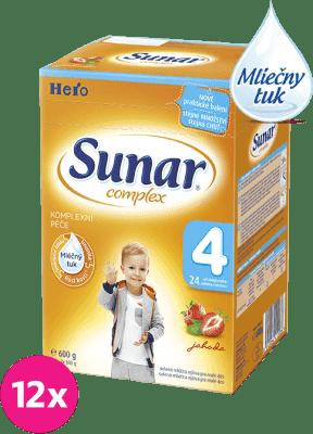 12x SUNAR Complex 4 JAHODA (600g) - dojčenské mlieko