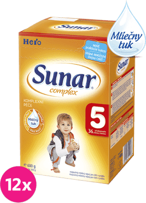 12x SUNAR Complex 5 (600g) - dojčenské mlieko