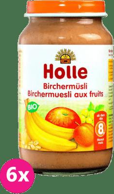 6x HOLLE Ovocné müsli, 220g - detská ovocná výživa