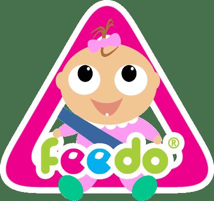 FEEDO Ostrzegawcza naklejka na auto – dziewczynka (Feedo Klub)