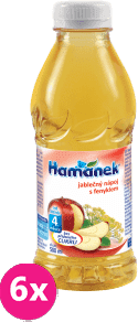 6x HAMÁNEK Jablčná šťava s feniklom (500 ml) – nápoj