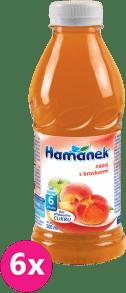 6x HAMÁNEK S broskyňami (500 ml) – nápoj