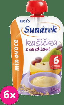 6x SUNÁREK Kašička mix ovocie (120 g)