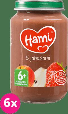 6x HAMI S jahodami 6+ (200g) - ovocný príkrm