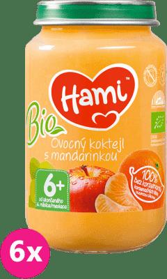 6x HAMI BIO Ovocný koktail s mandarínkou  (200 g) - ovocný príkrm