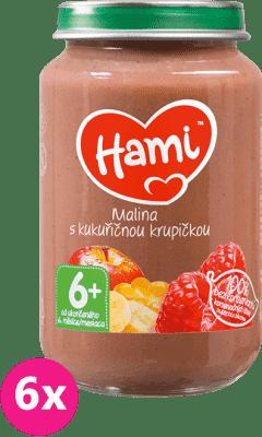 6x HAMI Malina s kukuričnou krupičkou (190 g) - ovocný príkrm