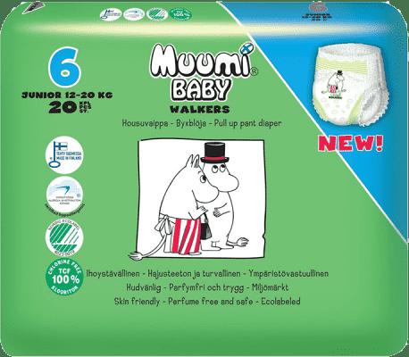 MUUMI Walkers Junior 20 ks (12-20 kg) – jednorázové pleny