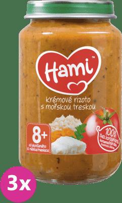3x HAMI Paradajky s treskou a ryžou (200 g) - mäsovo-zeleninový príkrm