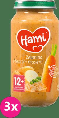 3x HAMI Roláda - zelenina a teľacie mäso (250 g) - mäsovo-zeleninový príkrm