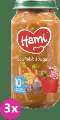 3x HAMI Špagety s hovädzím a zeleninou (250 g) - mäsovo-zeleninový príkrm