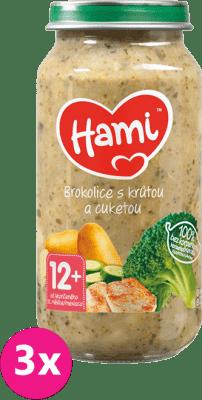 3x HAMI Brokolica a morčacie prsia (250 g) - mäsovo-zeleninový príkrm