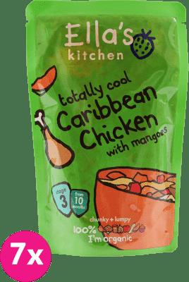 7x ELLA'S Kitchen Karibské kura s mangom 190g