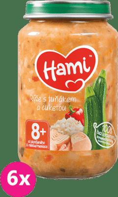 6x HAMI Ryža, tuniak a cuketa (200 g) - mäsovo-zeleninový príkrm